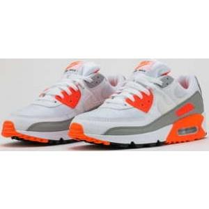 Nike Air Max 90 white / white - hyper orange EUR 45 - Nikeboty.cz
