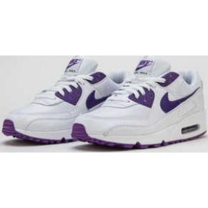 Nike Air Max 90 white / voltage purple - black EUR 47.5 - Nikeboty.cz