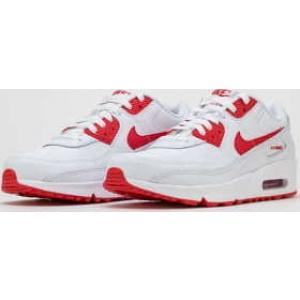 Nike Air Max 90 Leather (GS) white / hyper red - black EUR 39 - Nikeboty.cz